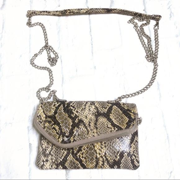 HOBO Handbags - Hobo NWOT snake pattern leather crossbody, clutch